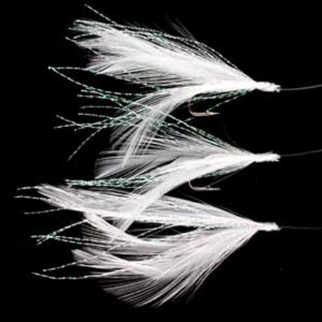 RT mackerel feathers flashes white/flashes