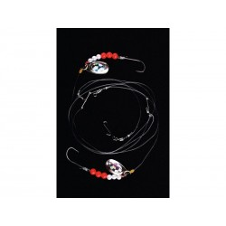 Imax Flounder Rig White and Red Bead SP