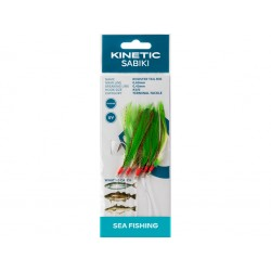Kinetic Sabiki Rooster Tail Rig Green/Copper Flash