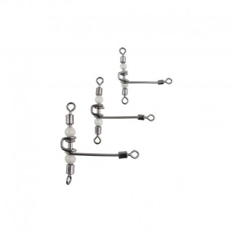 MIKADO T-ROLLING TRIPLE SWIVEL WITH PEARL BEADS A3702 SIZE 8/10  5PCS