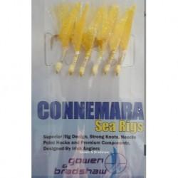 Gowen and Bradshaw Connemara 6 Hooks Gold Fish Skin